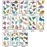 kdjsic Tijdelijke tatoeages dinosaurus voor kinderen jongens verjaardagsfeestje 70 tatoeages (pak van 13 vellen) waterdichte