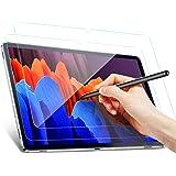 Benazcap Protector de Pantalla para Samsung Galaxy Tab S7+ 12.4 Pulgadas 2020, Protector de Pantalla Transparente de Vidrio T
