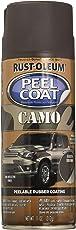 Rust-Oleum 300834 Automotive Peel Coat Camo Flat Non Reflective Spray Paint (Brown -312 Grams)