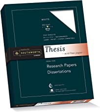 "Southworth 100% Cotton Thesis Paper, 8.5"" x 11"", 20 lb, Wove Finish, White, 250 Sheets (35-120-10)"