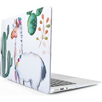 iDOO Hard Case MacBook Air 13 inch Model A1369 / A1466 - Smooth Soft Touch Snap-on Protective Shell Cover - Alpaca Cactus