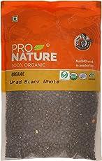 Pro Nature 100% Organic Urad Black Whole, 500g
