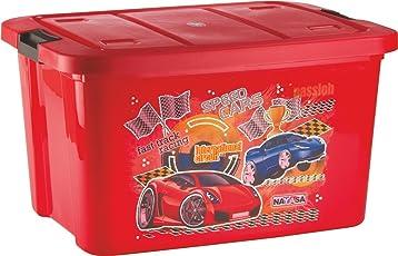 uberlyfe Kids Plastic Multipurpose Toy Storage Box, 25L (Red, NY-001545-TYBX25L_RD)