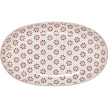 Bloomingville Susie Servierplatte Servierteller handbemalt Schale