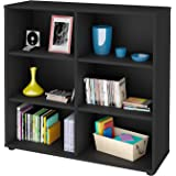 Artany Clean Bookcase, Black, H 81.2 cm x W 86.4 cm x D 30 cm