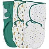 Baby Swaddle Wrap - Pack of 3 Swaddle Blankets - 100% Cotton - Jungle - Small: 0-3 Months