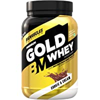 Bigmuscles Nutrition Premium Gold Whey 1Kg [Cookie & Cream] | Whey Protein Isolate & Whey Protein Concentrate | 25g…