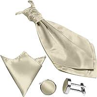 GASSANI Set di 3 Plastron cravatta raso pre-legata 19 colori