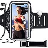 Autkors Löpararmband för iPhone 12/12 Pro/SE 2020/11/11 Pro/XS/XR/X upp till 6,1 tum, hudvänligt svettbeständigt sporttelefon