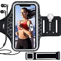 Autkors Fascia da Braccio Portacellulare per Correre, Sweatproof Porta Cellulare Braccio Sportiva con Tasca per Chiave e…
