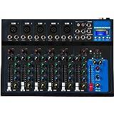 Depusheng HT7 Table de mixage audio portable Bluetooth avec console de mixage de son DJ USB Cartes de mixage de bandes à 7 ca