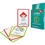 Toiing Flipped - General Knowledge Spot The Difference Card Game for Kids   Develops Memory   Age 5+ Years   Travel Friendly