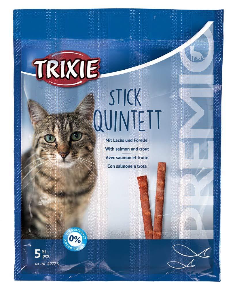 Trixie Premio Stick Quintett Friandise salmón/Trucha para Gato 5× 5G
