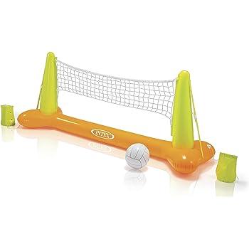 Intex-56508 Gioco Volley Galleggiante, Colore Giallo/Verde, 239 x 64 x 91 cm, 56508NP
