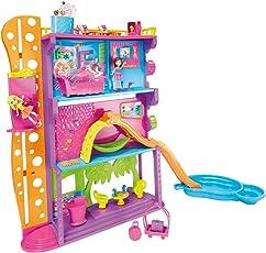Mattel X1290 - Polly Pocket Stick N Play Ferienspaß-Hotel, inklusive 2 Puppen und Zubehör
