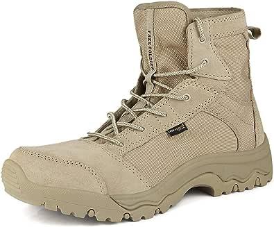 FREE SOLDIER Stivali Militari Uomo Stivali Tattici Estate Esterni Stivali Leggeri e Traspiranti da Combattimento Scarpe da Lavoro di Sicurezza Durevoli