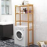 House of Quirk Bathroom Cabinets 2 Tier Space Saver Bathroom Storage Rack Multifunctional Organizer Bamboo Toilet Floor Cabin