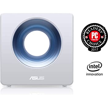 ASUS Blue Cave Wireless-AC2600 Dual-Band Wi-Fi Router, AI Mesh Dual Core CPU Enhanced Performance, IFTTT and Amazon Alexa Supported, Aiprotection with Trend Micro for Enhanced Security