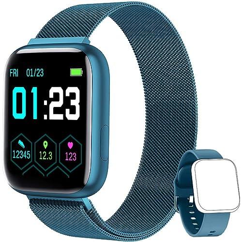 NAIXUES Smartwatch Orologio Fitness Sportivo Donna Uomo Impermeabile Smartband Cardiofrequenzimetro Contapassi da Polso Monitor Pressione Sanguigna Activity Tracker per Android iOS