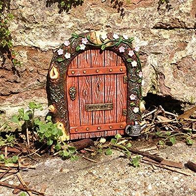 Fairy Tür–Ideal für Gärten und Bäume/Miniatur Rustikal Tür für Elfen Pixies und Feen von FHFY auf Du und dein Garten