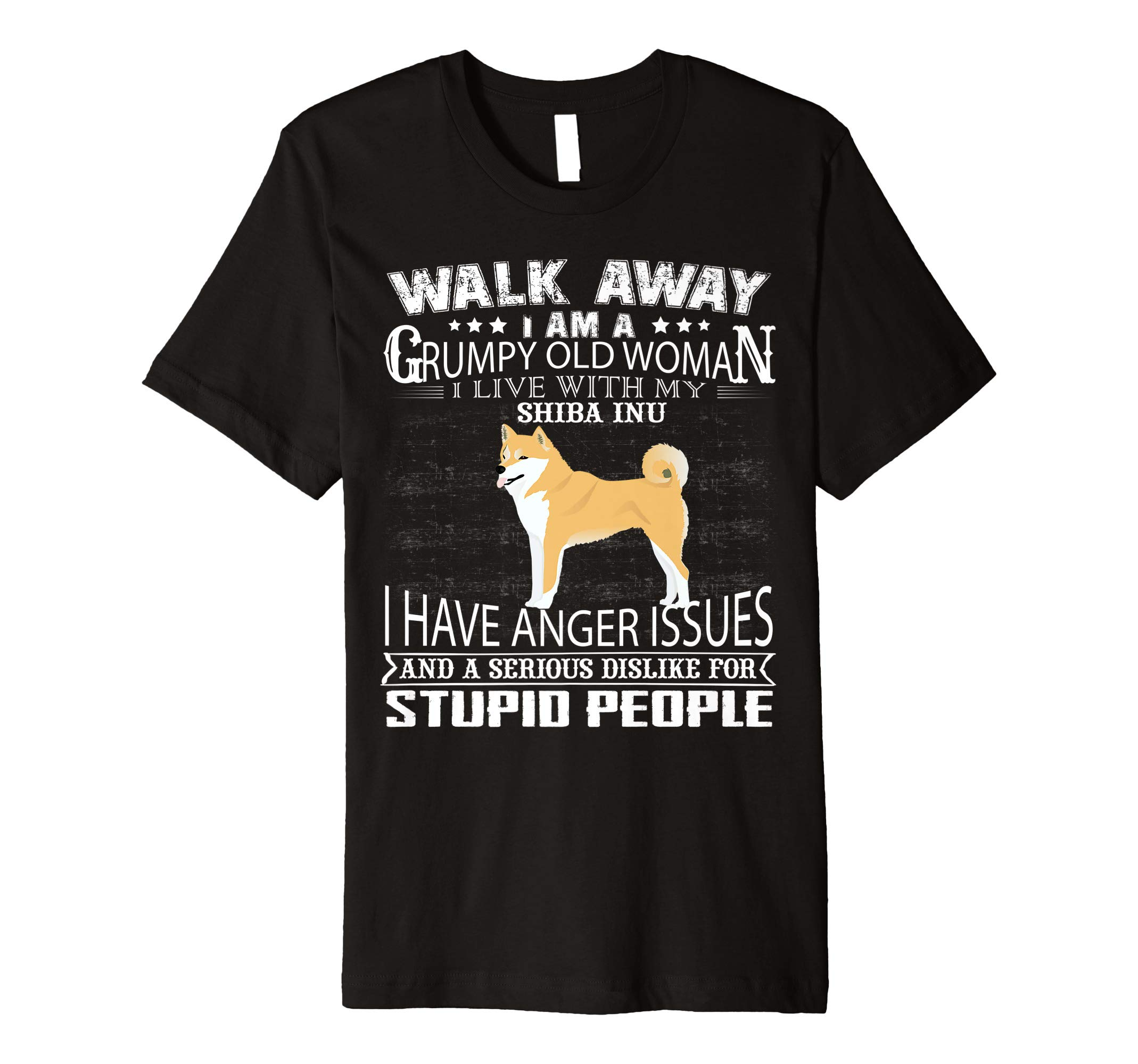 Walk away I LIVE WITH MY Shiba Inu T-Shirt