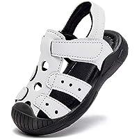 BODATU enfants garçons chaussures de sport en plein air sandales bout fermé sandales d'été en cuir
