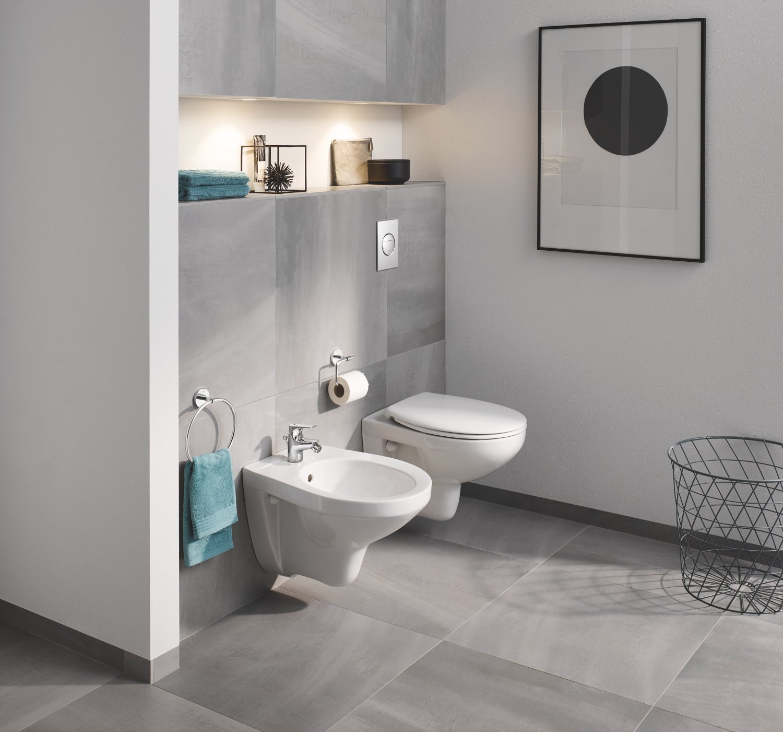 71xkcl yoiL - Grohe Solido Diseño cerámica | WC-Solido 4in1con-Diseño de borde cerámica inodoro, 3-6l, 1, 13m, 39418000