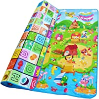 Zofey Double Sided Water Proof Baby Mat Zofey Carpet Baby Infant Crawling Play Mat (Multicolour, 6.5 X 6 ft) Carpet Baby Gym Water Resistant Baby Play