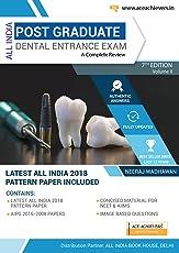 All India Post Graduate Dental Entrance Examination 7th edition Vol -2 2018 + Neet MDS Pattern 2017