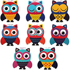 Heartzy Set Of 8 Cute Owl Magnetic Bookmark Combo