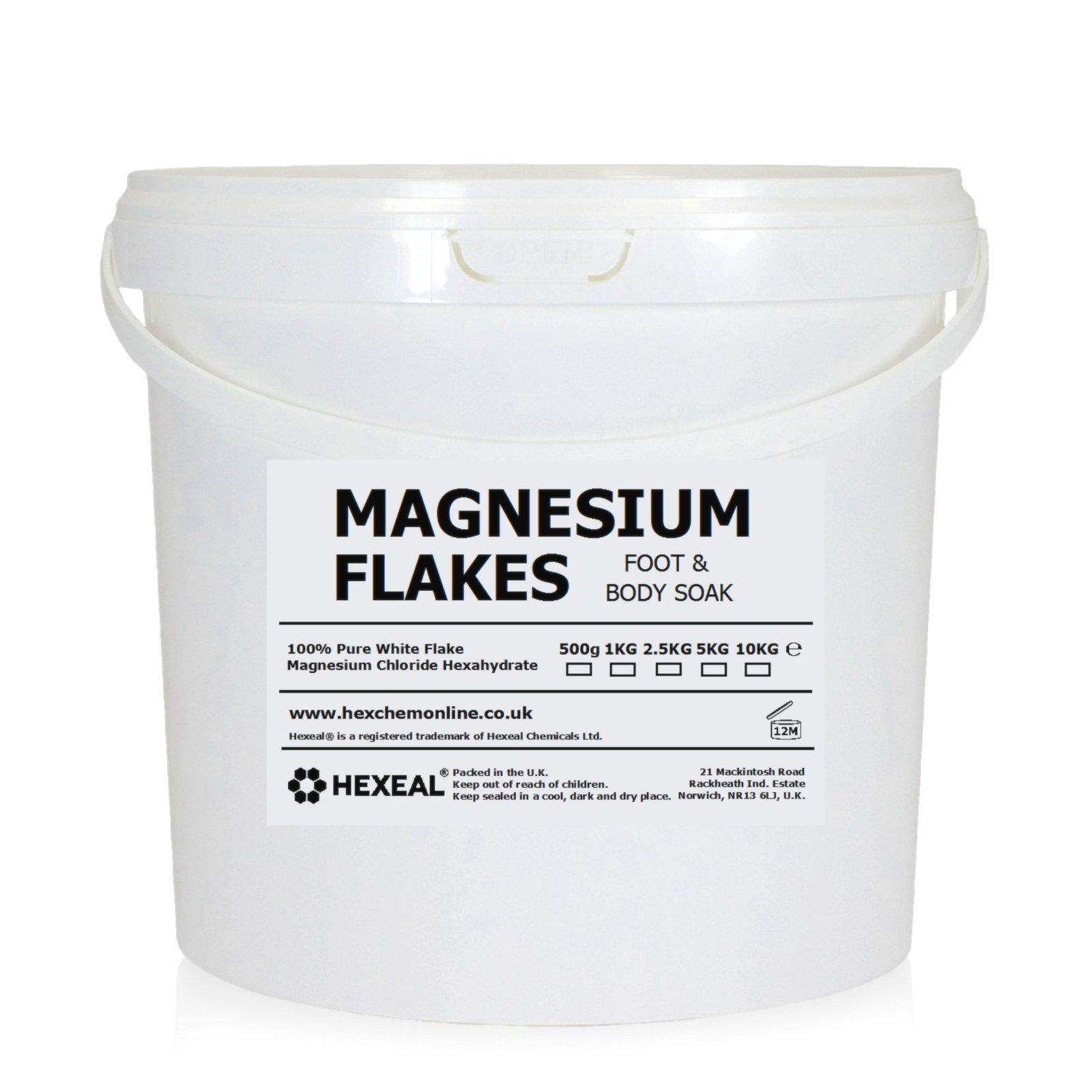 MAGNESIUM FLAKES | 10KG BUCKET | 100% Pure | Bath Soak | Magnesium Chloride