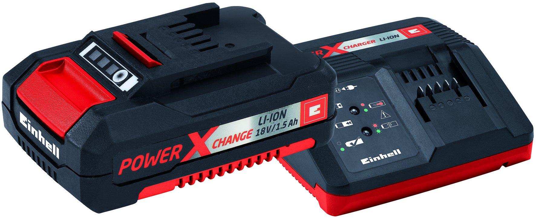 Einhell Starter Kit Akku und Ladegerät Power X-Change (Lithium Ionen, 18 V, Akku und Schnellladegerät, passend für alle Power X-Change Geräte)