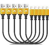 5 عبوات كابل شاحن iPhone قصير 1FT كابل إضاءة بطول 1 قدم، سلك USB سريع الشحن لهاتف iPhone 11 Pro X XS Max XR / 8/8 Plus / 7/7