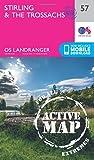 Landranger Active (57) Stirling & The Trossachs (OS Landranger Map)
