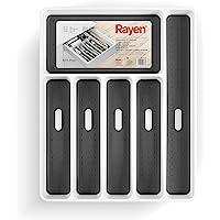 Rayen 6183 RAYONEN Cutlery Organizer Base antidérapante Tiroirs Toujours commandés Dimensions: 40 x 32,5 x 5 cm, Blanc…