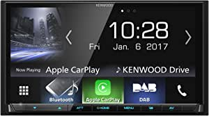 Kenwood Dmx7017dabs Av Receiver Mit 17 7cm Touchscreen Dab Bluetooth Apple Carplay Android Auto Usb 4 X 50 Watt Schwarz Auto