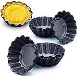 قوالب قابلة لاعادة الاستخدام وغير لاصقة بتصميم دائري صغير لتارت البيض والكب كيك والبسكويت والبودينج من اوباي من 10 قطع