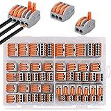 Borne de Connexion Rapide de Fil 2,3 et 5 Entr/ées Connecteurs Electriques de 50 Pi/èces 3 Types
