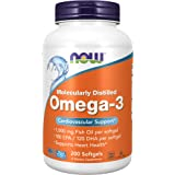 Now Food Cardiovascular Support Omega-3, 200 Soft gels