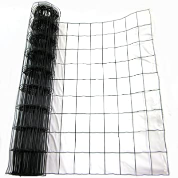 Green PVC Coated Steel Wire Mesh Fencing 90cm Garden Galvanised Fence (10m)