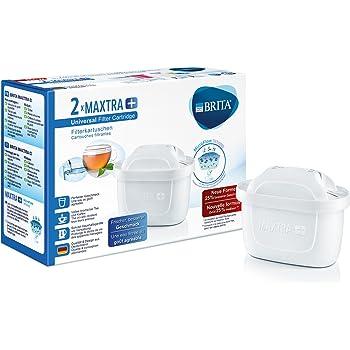 BRITA Filterkartuschen MAXTRA+ im 2er Pack – Kartuschen für alle BRITA Wasserfilter zur Reduzierung von Kalk, Chlor & geschmacksstörenden Stoffen im Leitungswasser