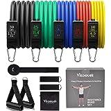 Viedouce weerstandsbanden set, elastische fitness banden met elastische banden Bodybuilding, handgrepen, deuranker, enkelband