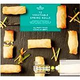 Morrisons 12 Vegetable Spring Rolls, 216g (Frozen)