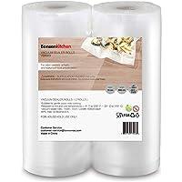 Bonsenkitchen Sottovuoto Sacchetti Alimenti 2 Rotoli 15x600 cm Sacchetti per Sottovuoto Rotoli Sacchetti goffrati Approvazione FDA e BPA gratuito
