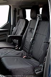 Black INKA Fully Tailored Waterproof Seat Covers Set in Black or Grey to fit VolksWagen Transporter T6 Kombi MY 2016 onwards