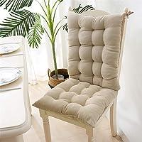 EXQULEG Coussin de chaise à dossier bas - Coussin d'assise pour chaise de jardin - 40 x 95 x 8 cm - Beige