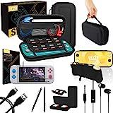 Kit Accessori per Nintendo Switch Lite - Include: Custodia e Pellicola Protettiva Switch Lite, Grip Case Cover, Cavo USB, Cuf
