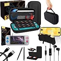 Kit Accessori per Nintendo Switch Lite - Include: Custodia e Pellicola Protettiva Switch Lite, Grip Case Cover, Cavo USB…