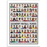 WALL EDITIONS Art-Poster 50 x 70 cm - Legendary Football Players - Olivier Bourdereau