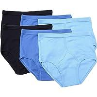 Undercover 6 Mens Gents 100% Cotton Y Fronts Briefs Blue or White M L XL 2XL 3XL 4XL 5XL